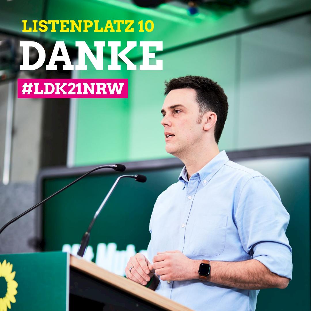 Listenplatz 10 und Direktkandidat in Lippe 1. Danke.